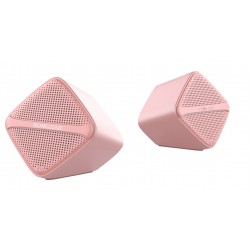 SonicGear Sonic Cube USB Speakers Peach